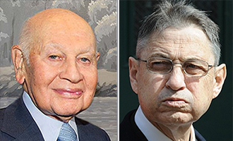 From left: Leonard Litwin and Sheldon Silver