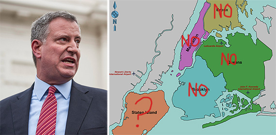 Bill de Blasio map