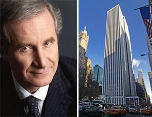 From left: Estee Lauder's Fabrizio Freda and the GM Building at 767 Fifth Avenue in Midtown