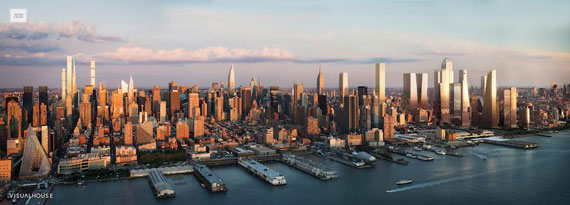 A predictive rendering of Manhattan's skyline in 2030 by Visualhouse (Click to enlarge)