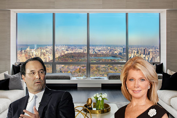 Gary Barnett of Extell Development, Nikki Field of Sotheby's International Realty and One57