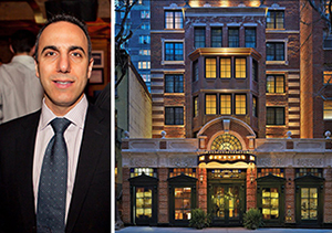 From left: William Obied at the Jade Hotel in Greenwich Village