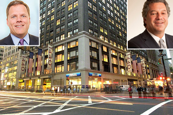 From left: Michael Happel, 1440 Broadway and Marc Holliday - See more at: http://therealdeal.com/2015/12/04/sl-green-nears-deal-to-acquire-new-york-reit/#sthash.AMTWl6Gm.dpuf