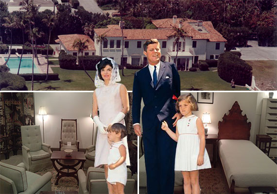 "Former Kennedy ""Winter White House,"" walnut beds and upholstered chairsto be auctioned, and the Kennedy family"