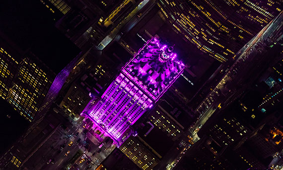 Aerial view of the Helmsley Building on Park Avenue by Evan Joseph