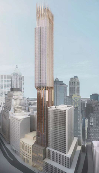 A rendering of 45 Broad