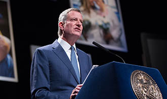 New York City Mayor Bill de Blasio delivers his State of the City address at Lehman College   in the Bronx on Thursday, February 4, 2016. The theme of the speech is One New York: Working For Our Neighborhoods. Michael Appleton/Mayoral Photography Office