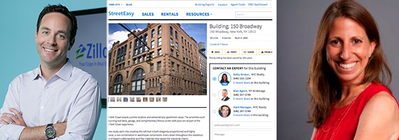 "Zillow CEO Spencer Rascoff, StreetEasy's ""building experts"" program, and StreetEasy GM Susan Daimler"