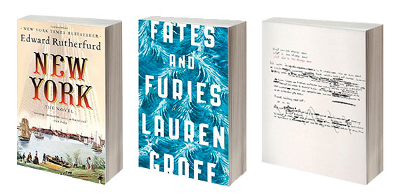"""New York: A novel"" by Edward Rutherfurd, ""Fates and Furies"" by Lauren Groff and ""What Will Be Has Always Been"" by Richard Saul Wurman"