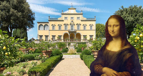 Tuscan villa mona lisa house house mona lisa painted for Can you buy the mona lisa