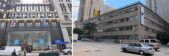 50 West 40th Street near Bryant Park and 445 West 59th Street on the Upper West Side