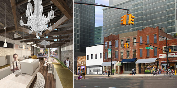 A rendering of the new Toby's coffee shop and the Jackson Avenue properties
