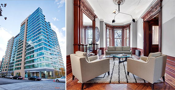 From left: 4630 Center Boulevard in Long Island City and 104 Prospect Park West in Park Slope