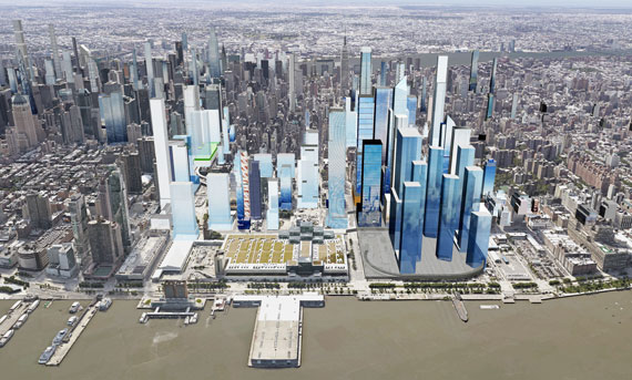 New York Hudson Yards Rezoned District 43m Sf Zoning