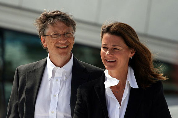 Bill and Melinda Gates during their visit to the Oslo Opera House in June 200 (photo credit: Kjetil Ree via Wikicommons)