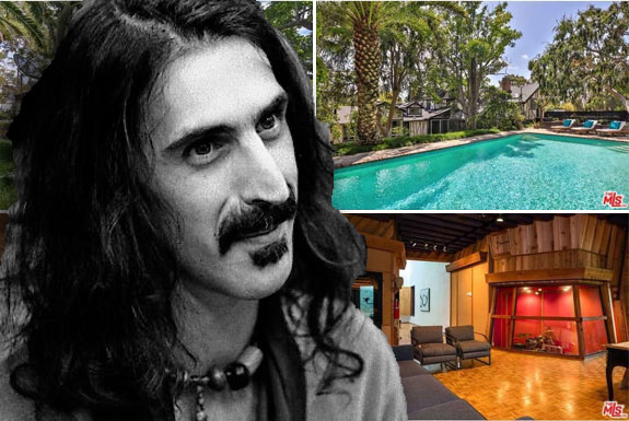 Frank Zappa (photo credit Jean-Luc via Wikipedia) and his home