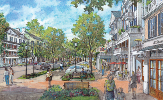 An artist's representation of what Riverside will look like after the redevelopment plan takes shape