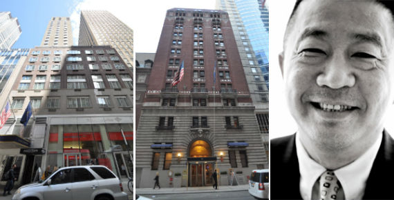 From left: 25 West 51st Street, 40 West 45th Street and Sam Chang