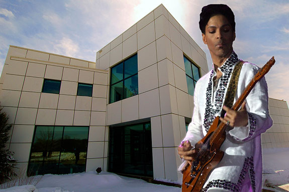 Paisley Park and Prince (photo credits: Nick Scribner and Scott Penner via Wikipedia)