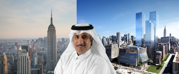 The Empire State Building, Sheikh Abdullah bin Mohammed bin Saud Al Thani and a rendering of Manhattan West