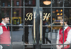 The Bowery Hotel is a regular spot for meeting clients.