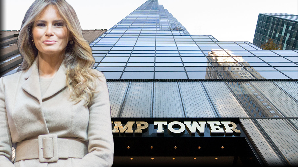 Melania Trump and Trump Tower at 725 5th Avenue