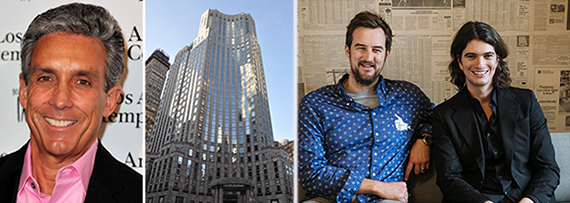 From left: Charles Cohen, 135 East 57th Street, Miguel McKelvey and Adam Neumann