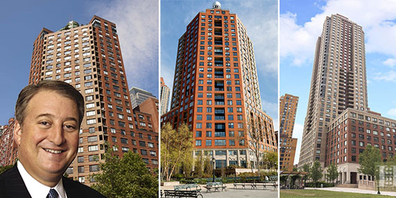 From left: Howard Milstein, 377, 380, and 200 Rector Street