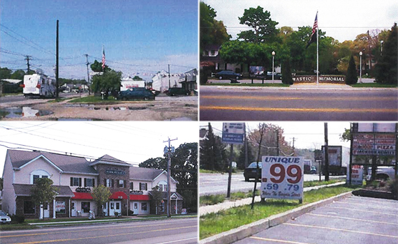 Snippets of the Montauk Highway Corridor (Credit: Brookhaven, New York)