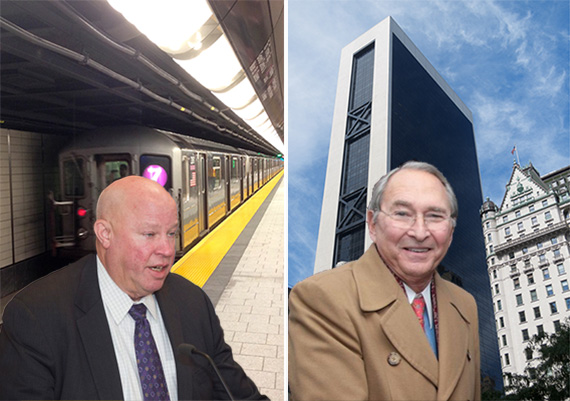 MTA CEO Thomas F Prendergrast with Hudson Yards 7 train and Sheldon Solow with Solow the Solow Building