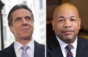 From left: Andrew Cuomo and Carl Heastie