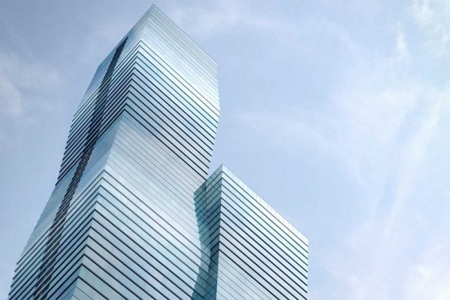 A rendering of Vista Tower