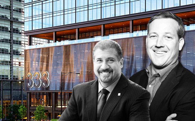 EY Global Chairman and CEO Mark Weinberger, Andy Gloor, and the property