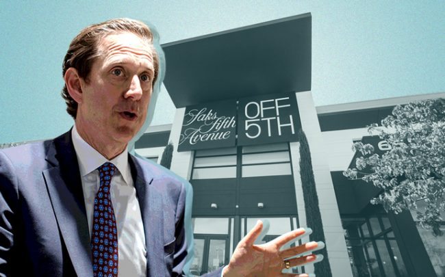 Hudson's Bay chairman Richard Baker and Saks Off 5th (Credit: Getty Images and iStock)