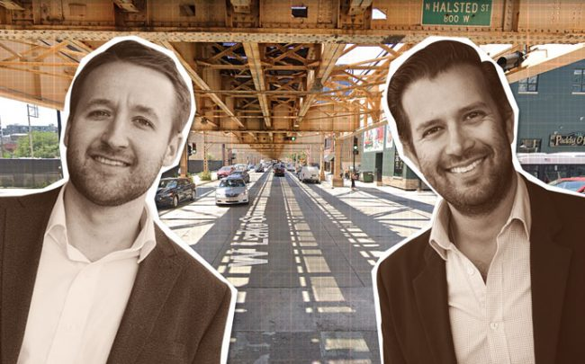 North Park Ventures Managing Partners Robert Sekula and Eric Turrin with Lake Street in Fulton Market (Credit: Google Maps)