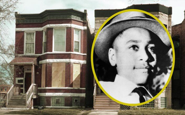 The two-flat building in Woodlawn where Emmett Till lived (Getty)