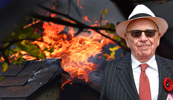 Fire damages Rupert Murdoch estate