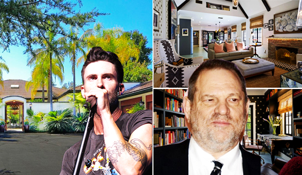 This week in celeb real estate: Adam Levine unloads estate for $18M, Harvey Weinstein lists a home for rent