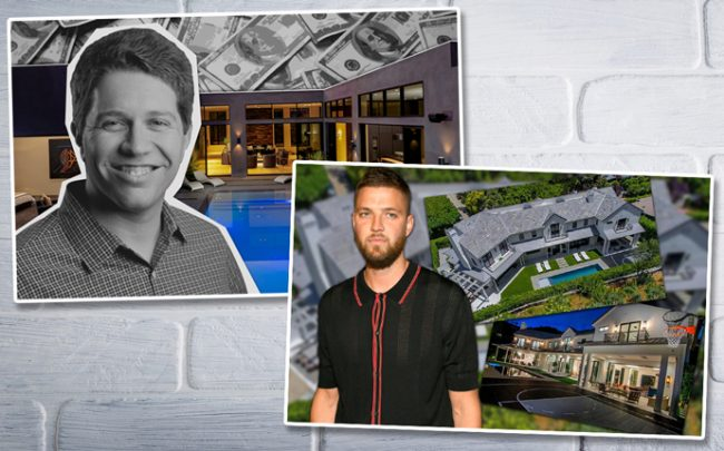 Garrett Camp and his new home, and Chandler Parsons and his property on Stone Canyon Road (Credit: Getty Images)