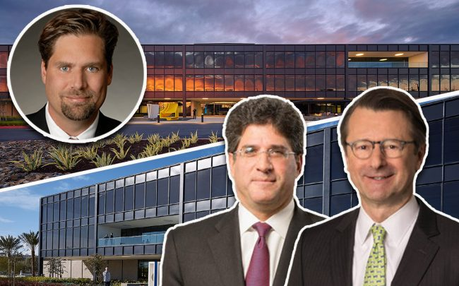 777 Aviation Boulevard, and from left: Ocean West Capital Partners Principal & co-founder Russ Allegrette and Lionstone co-founders Glenn Lowenstein and Dan Dubrowski