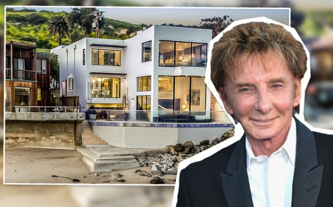 Barry Manilow and 24146 Malibu Road (Credit: Getty Images)