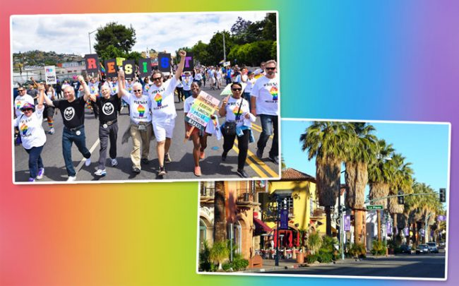 The 2017 LA Pride march in West Hollywood and West Palm Springs (Credit: United Food and Commercial Workers)