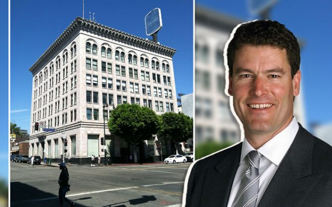 Owner Jeff Records and the Security Pacific Bank building