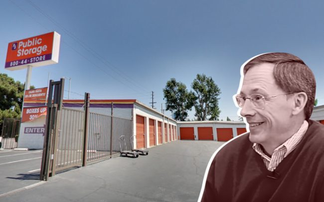 CEO of Public Storage Ronald L. Havner Jr. and the site in North Hollywood (Credit: Google Maps)
