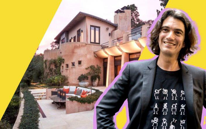 "Adam Neumann and the ""Guitar House"" in in Corte Madera (Getty, Realtor)"