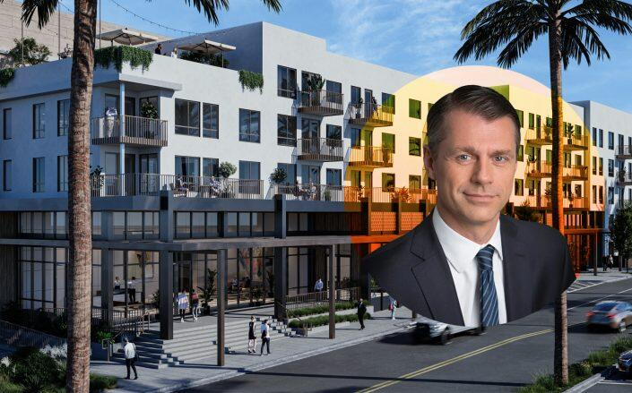 Renderings of the project and Brookfield Properties Managing Partner and CEO Brian Kingston (Brookfield, Los Angeles Department of Building & Planning)