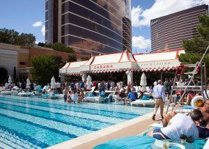 Day one of the International Council of Shopping Centers' event in Las Vegas centers around the Wynn's pool