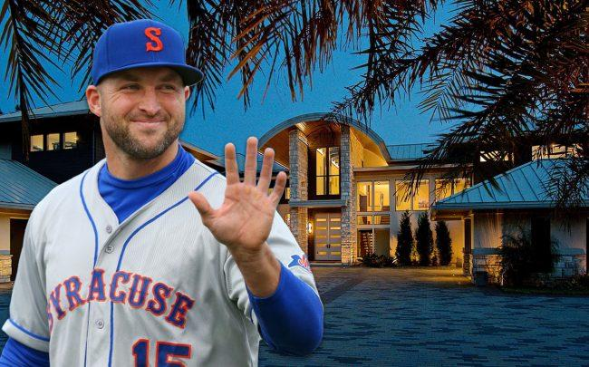 Tim Tebow and his home in South Jacksonville's Glen Kernan Golf & Country Club (Credit: Getty Images, Estately)