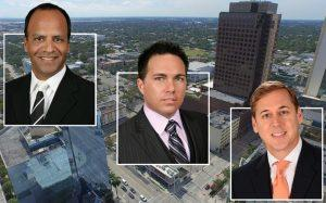 From left: Edward Romo, Ryan T. Shaw and Scott C. Sandelin and the property