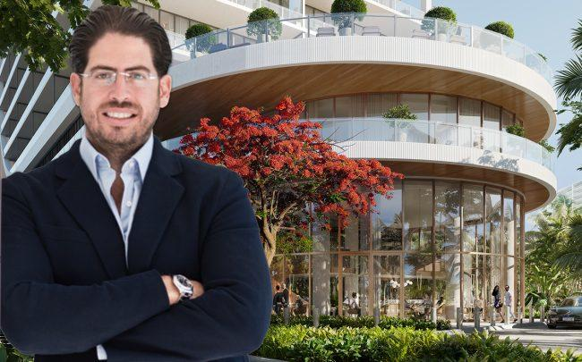 Terra's David Martin and a rendering of the project